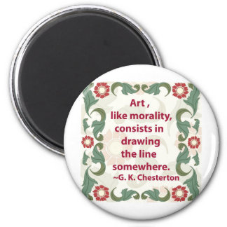 G. K. Chesterton on Art and Morality 2 Inch Round Magnet