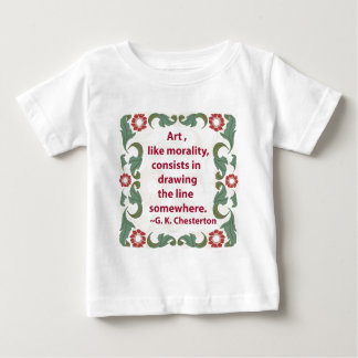 G. K. Chesterton on Art and Morality Baby T-Shirt