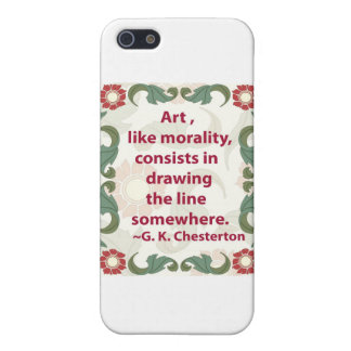 G. K. Chesterton on Art and Morality Case For iPhone SE/5/5s