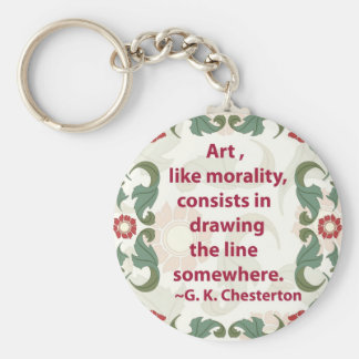 G. K. Chesterton on Art and Morality Keychain
