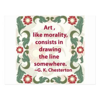 G. K. Chesterton on Art and Morality Postcard
