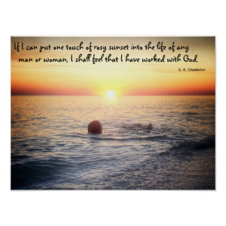 G. K. Chesterton quote about sunset- poster