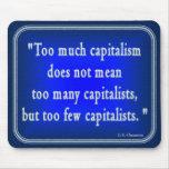 G.K. Chesterton Quote en el capitalismo Mousepad Alfombrillas De Ratón