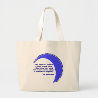 G. K. Chesterton Stormy Sea Tote Bags