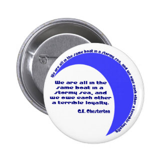 G. K. Chesterton Stormy Sea 2 Inch Round Button