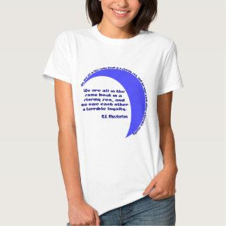 G. K. Chesterton Stormy Sea T-Shirt