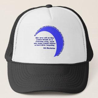 G. K. Chesterton Stormy Sea Trucker Hat