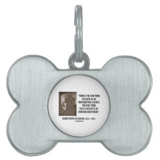 G.K. Chesterton Uninteresting Subject Uninterested Pet ID Tag