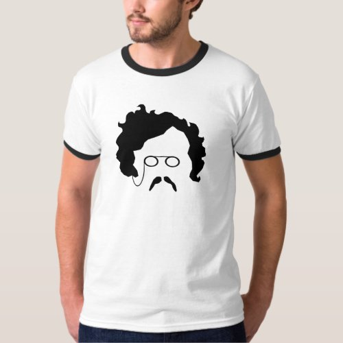 G K Chestertons moustache mens t shirt