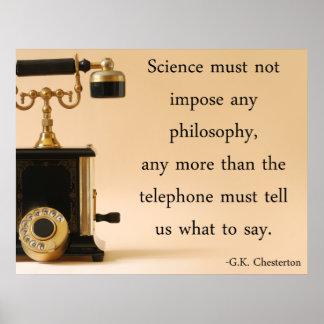 G.K. Cita de Chesterton Póster