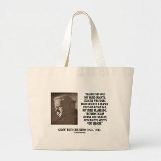 G.K. Locura de la imaginación de Chesterton Bolsa De Tela Grande