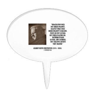 G.K. Locura de la imaginación de Chesterton Figuras Para Tartas
