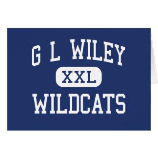 G L gatos monteses Leander medio Tejas de Wiley Tarjeton