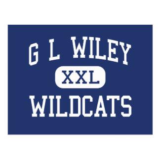G L gatos monteses Leander medio Tejas de Wiley Postales
