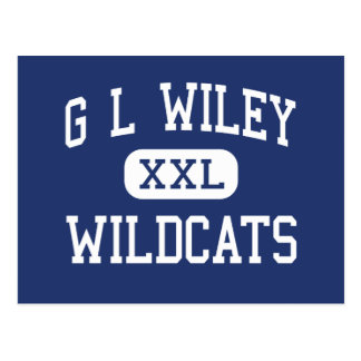 G L Wiley Wildcats Middle Leander Texas Postcard