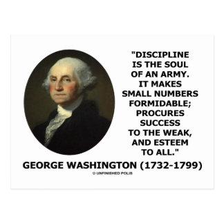 G. la disciplina de Washington es el alma de un ej Postales