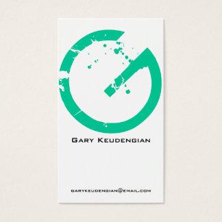 G Letter Alphabet Business Card Green