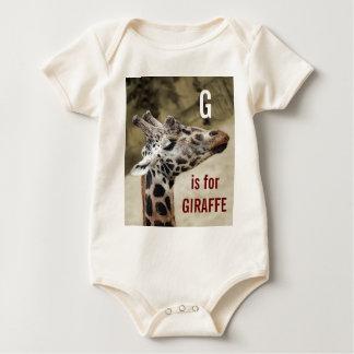 G lindo está para el equipo del bebé de la jirafa traje de bebé