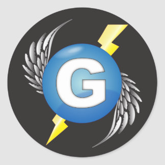 """G"" logo stickers"