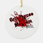 G&M Logo Double-Sided Ceramic Round Christmas Ornament