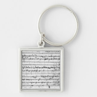 G major for violin, harpsichord and violoncello 2 keychain