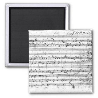 G major for violin, harpsichord and violoncello 2 refrigerator magnets