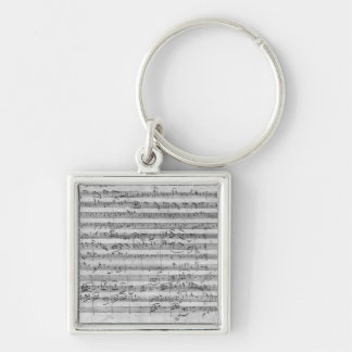 G major for violin, harpsichord and violoncello 3 keychain