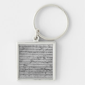 G major for violin, harpsichord and violoncello keychain