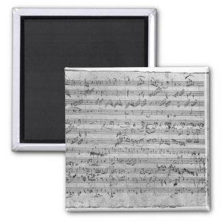 G major for violin, harpsichord and violoncello refrigerator magnets