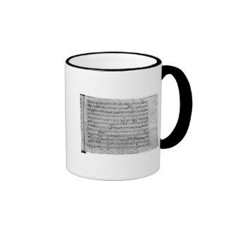 G major for violin, harpsichord and violoncello coffee mugs