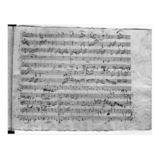 G major for violin, harpsichord and violoncello postcard