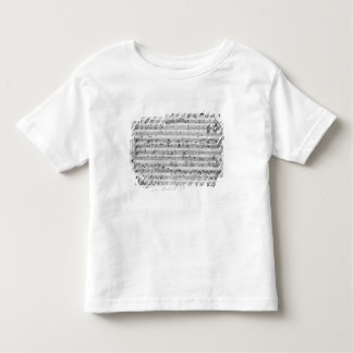 G major for violin, harpsichord and violoncello toddler t-shirt