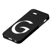 G Monogram Black IPhone 5 Case