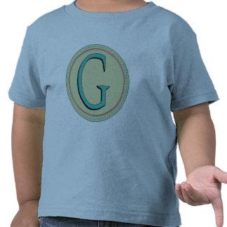 G MONOGRAM LETTER T SHIRTS