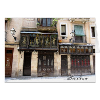 g/nc Barcelona Barri Gotic 1 Barcelona Greeting Card
