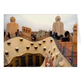 g/nc Barcelona Gaudi La Pedrera Rooftop Greeting Card
