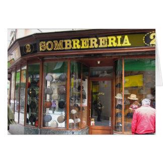 g/nc Barcelona Sombrereria Greeting Card