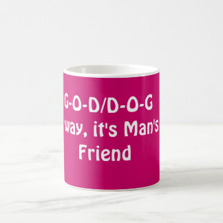G-O-D/D-O-GEither way, it's Man's Best Friend Magic Mug