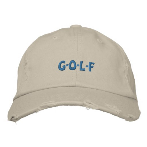 G-O-L-F EMBROIDERED BASEBALL HAT