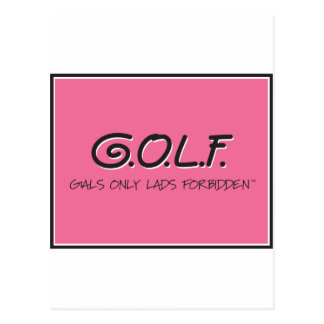 G.O.L.F. GALS ONLY LADS FORBIDDEN POSTCARD