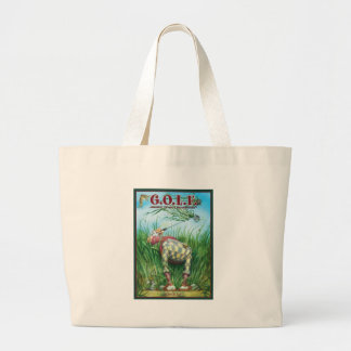 G.O.L.F GREATEST OF LIFE'S FRUSTRATIONS LARGE TOTE BAG