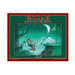 G.O.L.F GREATEST OF LIFE'S FRUSTRATIONS POSTCARD