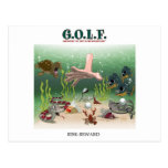 G.O.L.F. GREATEST OF LIFE'S FRUSTRATIONS POSTCARD