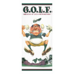 G.O.L.F. GREATEST OF LIFE'S FRUSTRATIONS FULL COLOR RACK CARD