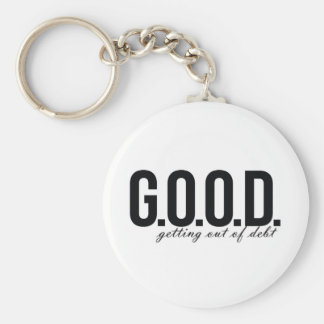 G.O.O.D. = Getting Out of Debt Keychain