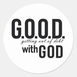 G.O.O.D. with GOD Classic Round Sticker