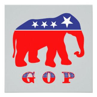G O P - Red, White, & Blue Elephant Card