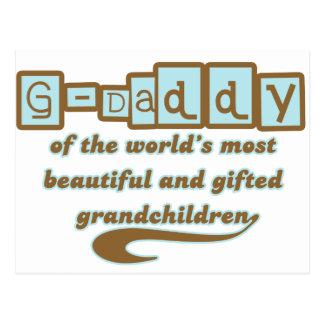 G-Papá de nietos dotados Tarjetas Postales