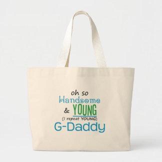 G-Papá hermoso y joven Bolsas De Mano