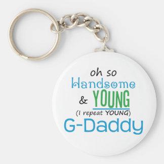 G-Papá hermoso y joven Llavero Personalizado